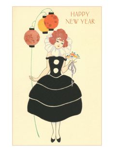 Vintage New Year's card.