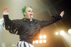 Keith Flint of The Prodigy on stage at T in the Park in 1996
