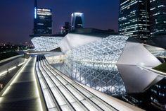 Guangzhou Opera House by Zaha Hadid Architects.