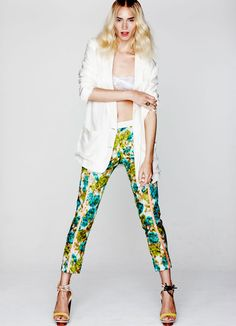 A floral print pant is my must have item this spring.