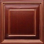 """#TallissaDecor Faux Tin Ceiling Tile, #224 Antique Copper , Size: 23 3/4"""" X 23 3/4"""" Price: $10.99 USD   #fauxtinceilingtiles #ceilingtile #ceilingtiles #suspendedceilings #decorativeceilings #decorativeceilingtiles #beautifulceilings #dropinceilingtile#ceiling#tinceilingtiles"""