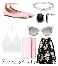 """Untitled #26"" by canadiangirll ❤ liked on Polyvore featuring Fendi, Gianvito Rossi, MICHAEL Michael Kors and Floralskirts"
