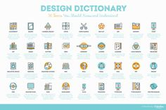 On the Creative Market Blog - Design Dictionary: 36 Terms You Should Know and Understand + Cheatsheet