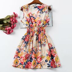 Verão vestido Mulheres Vestidos Imprimir Casual Preço Baixo China Roupas Femininas Roupas Escritório das senhoras Feminino Bohemian Mini vestido Praia