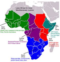 map of the cuisines of Africa