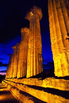Columns of the Temple of Hercules, Valley of the Temples, Sicily