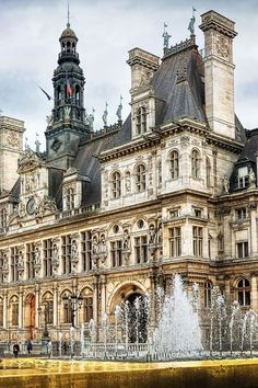 ♔ Paris, Hotel de Ville It would be amazing to stay here -- but this is not the kind of hotel where you can stay. It is the city hall !