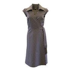 Image of Mørk blå slå om kjole