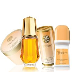 Timeless Alluring 4-Piece Fragrance Collection. A forever fragrance of classic florals, amber and musk. Valued at $28, the Collection includes:Cologne Spray - 1.7 fl. oz. A $15 value.Perfumed Skin Softener - 5 fl. oz. A $5.75 value.Body Powder - 1.4 oz. net wt. A $5.50 value.Bonus Size Roll-On Anti-Perspirant Deodorant - 2.6 fl. oz. A $1.99 value. Item# 563-592. Sale: $9.99. www.youravon.com/tanikaparson.