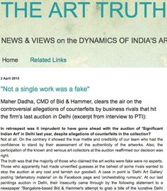 Maher Dadha, CMD of Bid & Hammer, clears the air on the controversial allegations of counterfeits by business rivals that hit the firm's last auction in Delhi (excerpt from interview to PTI) Truth News, Interview, Auction, Business, Store, Business Illustration