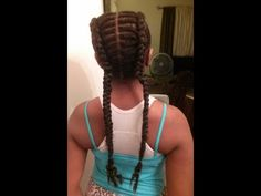 Two French Braids w/Hair Extensions - https://www.avon.com/category/bath-body/hair-care?repid=16581277 Shop Hair Care Products  Create Two large braids for kids watching this hair tutorial. Enjoy, thanks for watching. Please Rate and Subscribe. Products: Two packs of Jumbo braiding hair, gel, small rubber bands. Tools: Rat Tail Comb for sectioning hair. follow me: @ instagram, facebook, & twitter http://www.instagram.com/tianajbrooks http://www.facebook.com/tiana.j.brook