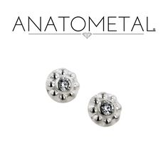 Check out Anatometal Solid Silver Internally Threaded 5mm Ipsa Gem End 18g 16g 14g 12g from DiabloBodyJewelry.com!