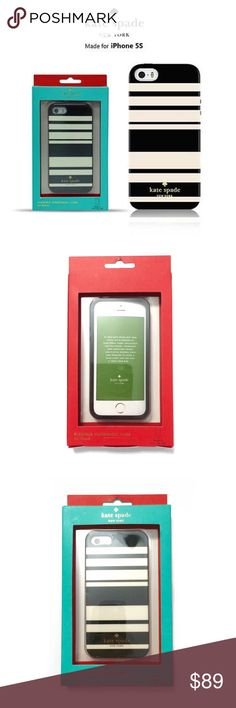 Kate Spade iPhone SE 5/5S Case BNIB  Flexible hardshell case. This fits the new iPhone SE and the iPhone 5 and 5S.  ❌ Sorry, no trades. kate spade Accessories Phone Cases