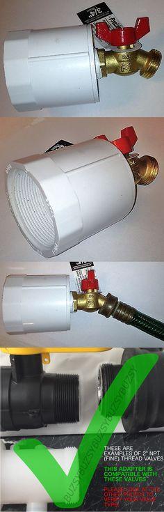 275 330 Gallon Ibc Tote Tank Adapter 2 Npt Fine X Brass Hose Faucet Valve Ebay Pressure Tanks Faucet Valves Water Pumps