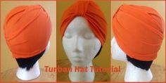 Turban Hat Tutorial using stretch fabric - can modify a bit for a baby/child