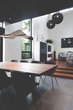 wohnzimmer modern einrichten schwarz weiß indirekte beleuchtung ... - Wohnzimmer Bilder Modern