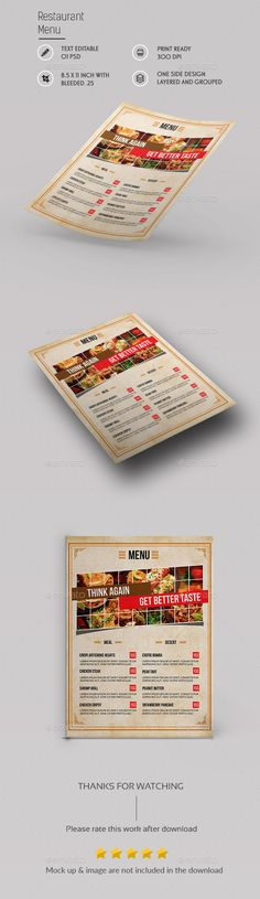 Stylish Flyer Restaurant Menu - sample cafe menu template