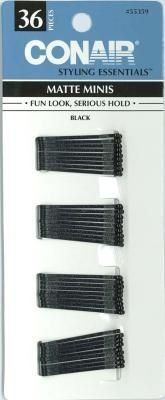 Conair Matte Minis Black Bobby Pins (3-Pack) ** This is an Amazon Affiliate link. You can find more details by visiting the image link.