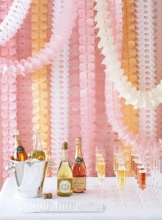 Bekith 10 Pack Reusable Party Streamers Pink & Cream Hanging Garland Four-Leaf Clover Garland Tissue Paper Flowers Garland Wedding Party Decor Long Each) Paper Wedding Decorations, Decoration Birthday, Wedding Paper, Diy Wedding, Party Wedding, Garland Wedding, Hanging Decorations, Garland Decoration, Pink Decorations