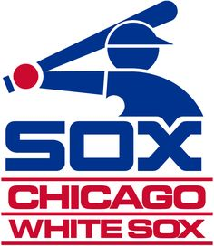 cfcb89b06 Chicago White Sox Primary Logo (1982) - Blue baseball player icon above Sox  in