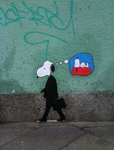 If you're going to do graffiti, do it so others can enjoy it as well. This makes me happy Melbourne Graffiti Me too, Snoopy. Me too. Banksy Graffiti, Arte Banksy, Street Art Graffiti, Bansky, Graffiti Artwork, Berlin Graffiti, Graffiti Painting, Charlie Brown Snoopy, Urbane Kunst