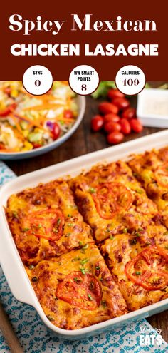 Spicy Mexican Chicken Lasagne - all the delicious flavours of Mexican food in this family-friendly lasagne recipe. Gluten Free, Slimming World and Weight Watchers friendly world chicken recipes Syn Free Spicy Mexican Chicken Lasagne Slimming World Dinners, Slimming World Chicken Recipes, Slimming World Diet, Slimming Eats, Slimming Recipes, Slimming World Lunch Ideas, Good Healthy Recipes, Spicy Recipes, Healthy Cooking