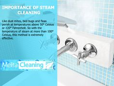 Importance of Steam Cleaning - Like dust mites, bed bugs and fleas perish at temperatures above Celsius or Fahrenheit. So with the temperature of steam at more than Celsius, this method is extremely effective. Professional Carpet Cleaning, Steam Cleaning, Bed Bugs, Dust Mites, Cleaning Service, How To Clean Carpet, Fleas