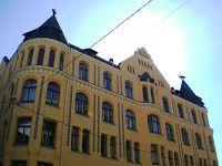 Baltijas Valstis (a balti államok): Riga – Óváros (Vecrīga)   Macskás ház