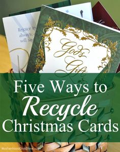 If you've ever needed ideas for what to do with those Christmas cards once Christmas is over...