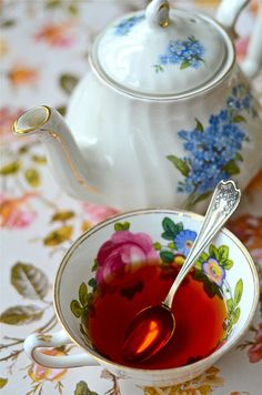 Just a lovely teapot and teacup!