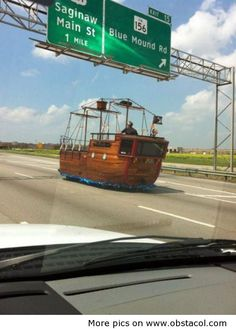 Spanish or English Galleon car...so awesome!  Needs to be flying the skull and crossbones though!