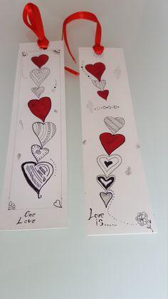 """Set 2 segnalibri serie """"LOVE"""" di AndysoneItalia su Etsy"""