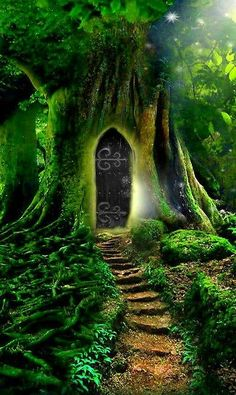 Magical Tree Door... Reminds me of Storybound!