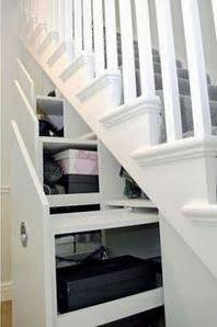 Binnenkant : De trapkast maar dan anders....