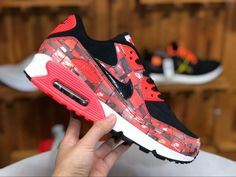 cheap for discount 2910f 05201 Nike Air Max 90 PRNT We Love Nike Black Bright Crimson White AQ0926-001-