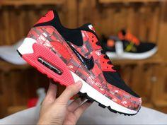 cheap for discount b75ea 523ec Nike Air Max 90 PRNT We Love Nike Black Bright Crimson White AQ0926-001-