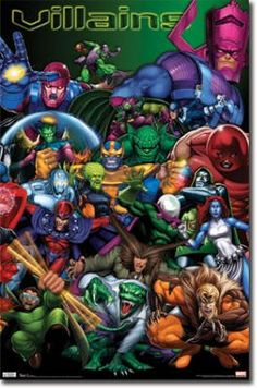 Amazon.com: Marvel Villains Diptych Art Print Poster - 22x34 Poster Print, 22x34 $1.34