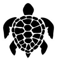 Sea Turtle design for a pillow