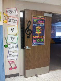 Hillary's Highlights: Confessions of a Music Teacher: Happy Music In Our Schools Month! Classroom Inspiration, Classroom Ideas, Classroom Walls, Classroom Supplies, Classroom Design, Future Classroom, Classroom Activities, Elementary Music Lessons, Elementary Choir