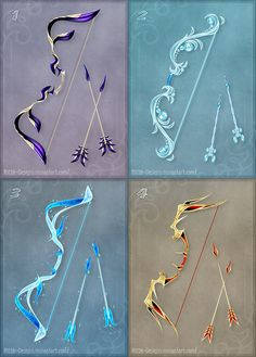 Magic bows (set 5) by Rittik-Designs on DeviantArt