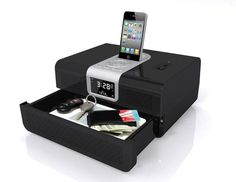 Cannon Security RadioVault Dock Speaker with Hidden Drawer |Gadgetsin
