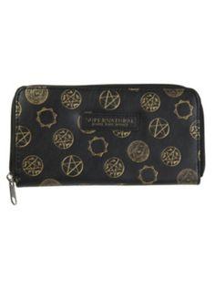 Supernatural Symbols Accordion Zipper Wallet. Hot topic.