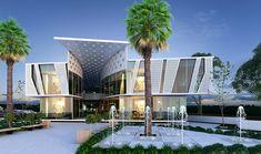 Architecture Office, Amazing Architecture, Architecture Design, Shopping Center, Mall Facade, Mall Design, Modern Mansion, Commercial Architecture, Building Facade