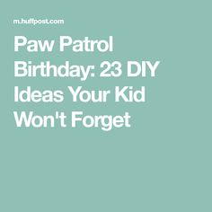 Paw Patrol Birthday: 23 DIY Ideas Your Kid Won't Forget