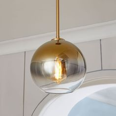 Sculptural Glass Globe Pendant - Large