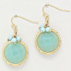 Pretty mint earrings.