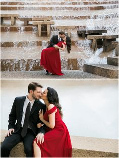 Romantic Fort Worth Water Gardens/Botanical Gardens Engagement Session