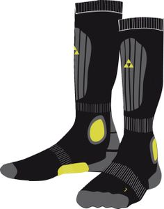 Fischer Sports Alpine Comfort Socks. Waterproof, windproof, breathable material that wicks mositure away from the skin. These are the ultimate base layer socks. They also feature a cushioned sole for rough terrain.