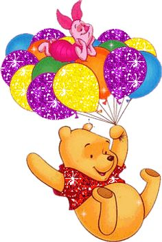 Winnie the Pooh and Piglet Birthday Card Sayings, Birthday Wishes, Happy Birthday, Winnie The Pooh Friends, Disney Winnie The Pooh, Cute Disney, Disney Art, Eeyore, Tigger