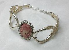 Nostalgische Silberarmband mit Gemme AB314 von Atelier Regina  auf DaWanda.com